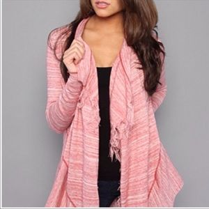 Free People Take A Bow Fringe Cardigan